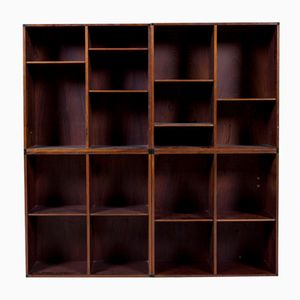 Mid-Century Rosewood Shelves by Aksel Kjersgaard for Odder, Set of 4