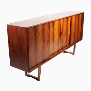 Danish Rosewood Credenza with Bar, 1960s
