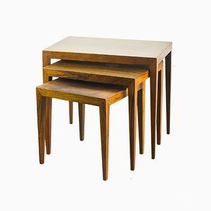 Tables Gigognes en Palissandre par Severin Hansen pour Bovenkamp, 1960s, Set de 3