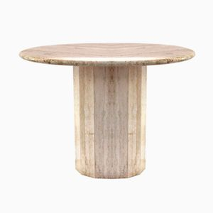 French Marble Pedestal Table, 1970s
