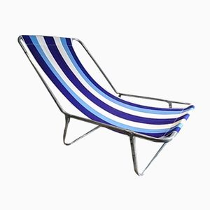Mid-Century Vintage French Beach Lounge Chair, 1960s