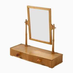 Polished Cherry Dressing Table Mirror from Hans-Agne Jakobsson, 1950s