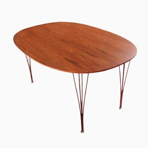 Super Ellipse Rosewood Dining Table by Piet Hein and Bruno Mathsson for Fritz Hansen, 1980s