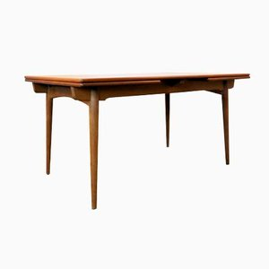 AT-312 Teak and Oak Extendable Dining Table by Hans J. Wegner for Andreas Tuck