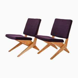FB18 Scissor Side Chairs by Jan van Grunsven for Pastoe, 1962, Set of 2