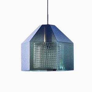 Lampe à Suspension Hexagonale par Carl Fagerlund pour Orrefors, Suède, 1960s