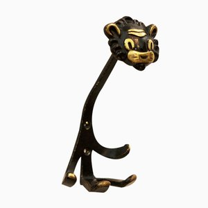 Viennese Lion Wall Hook by Walter Bosse for Hertha Baller, 1955