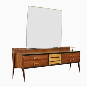 Italian Rosewood & Ash Dressing Table, 1950s