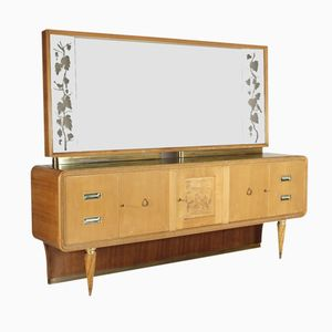 Italian Teak & Maple Dressing Table, 1950s
