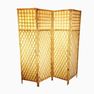 French Bamboo Dividing Screen, 1960s