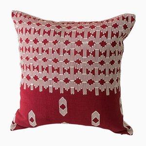 Edo Kissen in Weiß & Rot von Nzuri Textiles