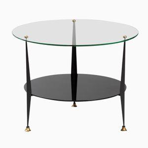 Glass and Vitrolite Tripod Side Table