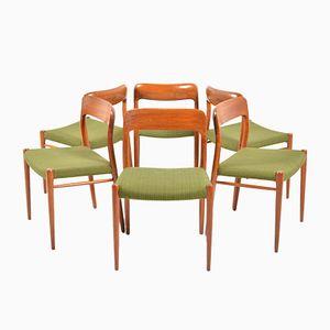Dänische Esszimmerstühle von Niels O. Møller für J.L. Møllers Møbelfabrik, 1960er, 6er Set