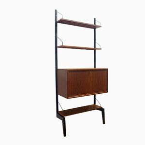 Teak Wall with Three Shelves by Poul Cadovius for Royal System, 1970s