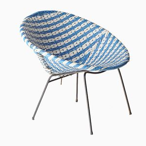 Blue and White Acapulco Easy Chair