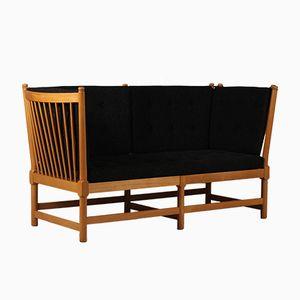 Dänisches 1789 Sofa mit Holzspeichen von Børge Mogensen für Fredericia Furniture, 1970er