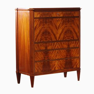Swedish Mahogany Secretaire by A. Bäck, 1950s