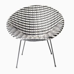 Black and White Acapulco Easy Chair