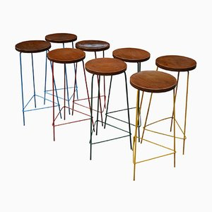 High Stools by Pierre Jeanneret, 1961, Set of 8