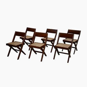 Library Chairs by Pierre Jeanneret, 1959, 6er Set
