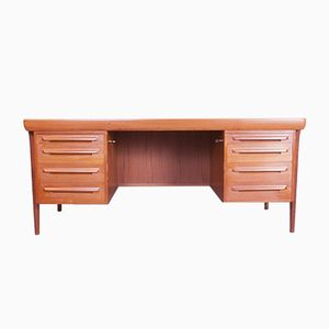 Danish Teak Office Desk by Ib Kofod-Larsen for Faarup, 1960s