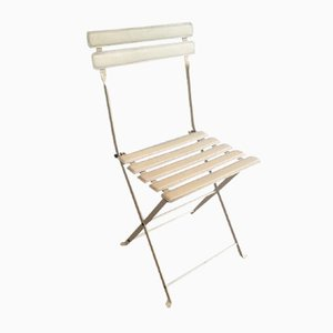 Metal & Faux Leather Folding Chair from Zanotta, 1970s
