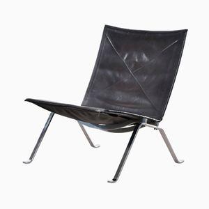 Danish PK22 Easy Chair by Poul Kjaerholm for E Kold Christensen, 1950s