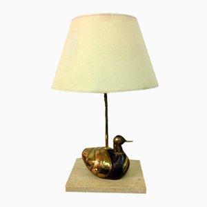 Brass Duck Lamp, 1970s