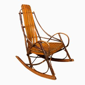 Vintage American Adirondack Rocking Chair