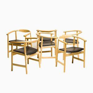Mid-Century 203 Esszimmerstühle von Hans Wegner für PP Møbler, 6er Set