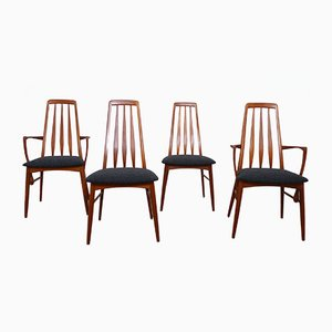 Eva Dining Chairs by Niels Koefoed for Koefoeds Hornslet, 1960s, Set of 4