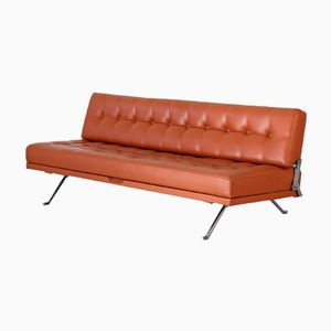Mid-Century Constanze Leather Daybed by Johannes Spalt for Wittman