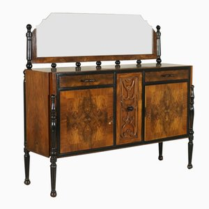 Italian Walnut & Burl Dressing Table, 1920s