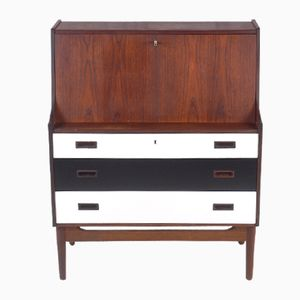 Large vintage teak secretaire cabinet for sale at pamono - Bureau secretaire vintage ...