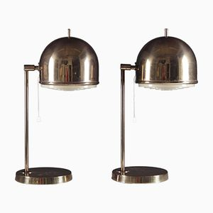 Mid-Century Swedish Brass Table Lamps by Eje Ahlgren for Bergboms, Set of 2