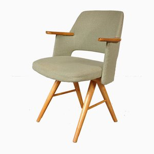 Dutch Birch and Green Fabric Dining Chair by Cees Braakman for Pastoe, 1950s