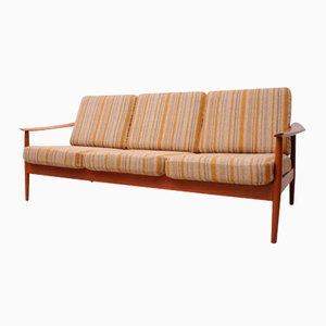 Dänisches Teak Drei- Sitzer Sofa von Arne Vodder für France & Søn, 1960er