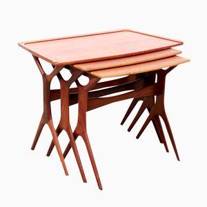 Danish Teak Nesting Tables by Johannes Andersen for Silkeborg, 1960s, Set of 3