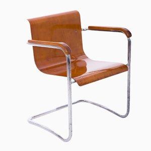 Czech Tubular Steel Chair by Hana Kucerova-Zaveska for Hynek Gottwald, 1930s