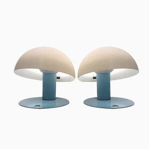 Italian Tables Lamps by Franco Mirenzi for Valenti, 1980s, Set of 2