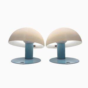 Italienische Tischlampen von Franco Mirenzi für Valenti, 1980er, 2er Set