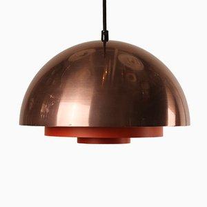 Danish Milieu Copper Lamp by Jo Hammerborg for Lyfa, 1970s