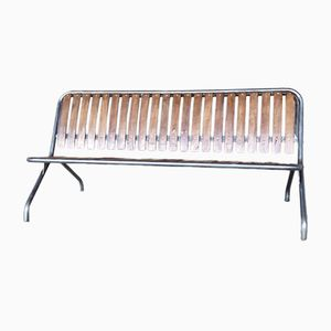 Vintage Foldable Slat Bench