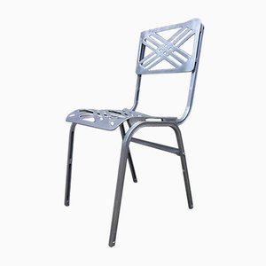 French Aluminum Outdoor Chair from Galerie Alumine, 1980s