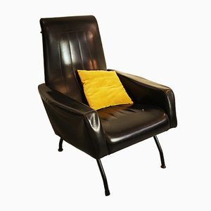 Faux Leather Armchair, 1960s