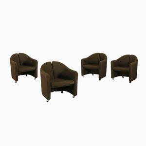 Italienische PS 142 Sessel von Eugenio Gerli für Tecno, 1966, 4er Set