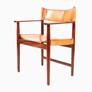 Dänischer Armlehnstuhl aus Palisander & Leder von Kurt Østervig für Sibast, 1960er