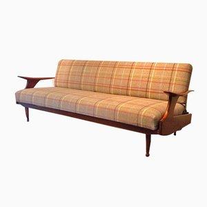 vintage german teak sleeper sofa for sale at pamono. Black Bedroom Furniture Sets. Home Design Ideas