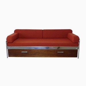 Czechoslovak Bauhaus Steel Tube Sofa Bed from Mücke & Melder, 1930s