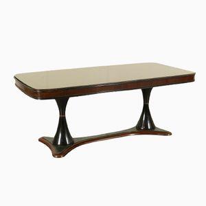 Italian Rosewood & Glass Table, 1940s